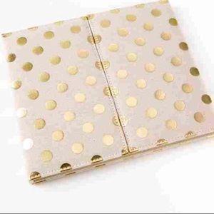 Kate spade gold dot desktop folio agenda set nwt
